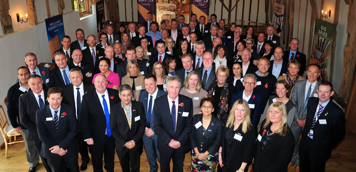 Invest in Suffolk Ambassadors at Bruisyard Hall Launch November 2015