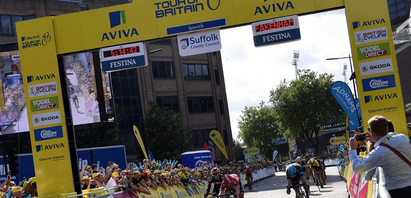 Tour of Britain event in Newmarket lets you get really close to the action!