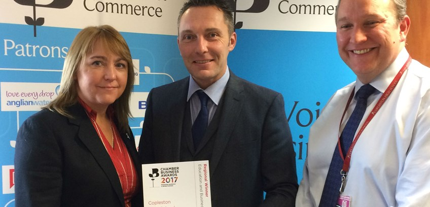 Copleston wins British Chambers of Commerce award regional award