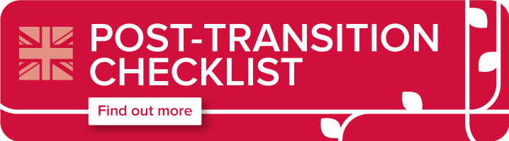 Post-transition checklist graphic and linki