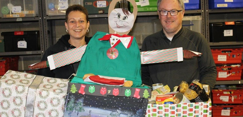 Flagship festive food boxes for those in need