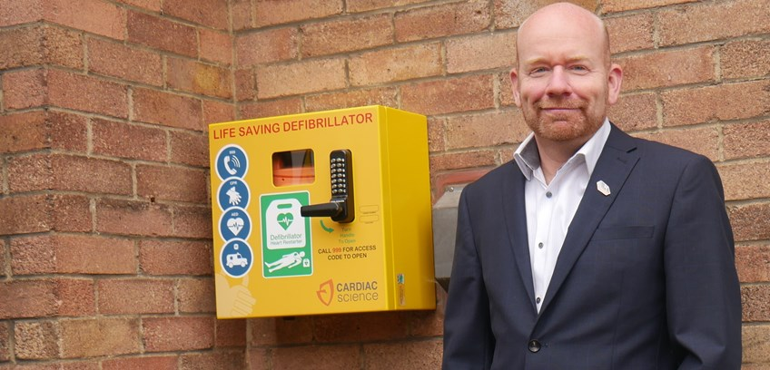 Accountancy firm brings life-saving equipment to the community