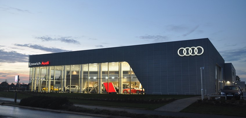 The wait is over, Ipswich Audi have opened the doors to their new showroom at Crane Boulevard, Futura Park in Ipswich
