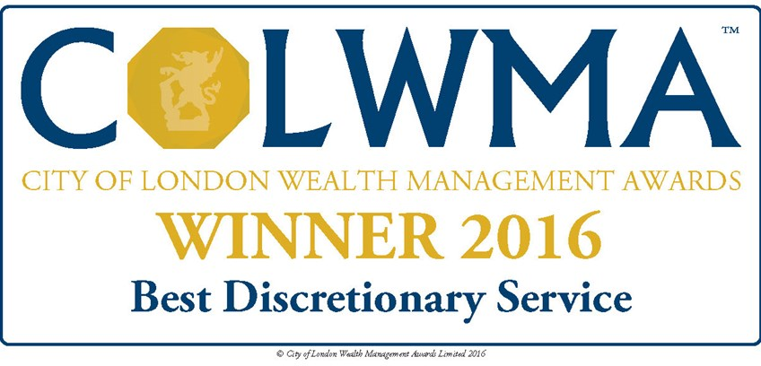 JM Finn & Co win Best Discretionary Service at 2016 City of London Wealth Management Awards