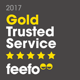 Ryan's Awarded Feefo Gold Trusted Service Award 2017