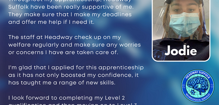 Headway Suffolk Apprenticeships Available