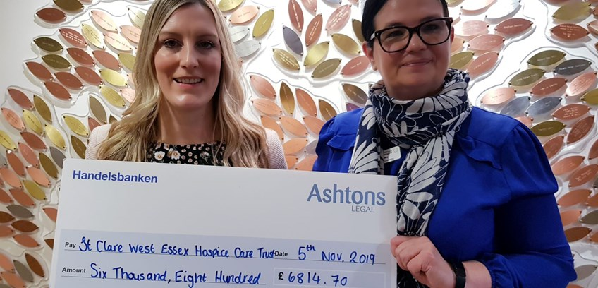 Ashtons delighted to facilitate payments to two local hospices