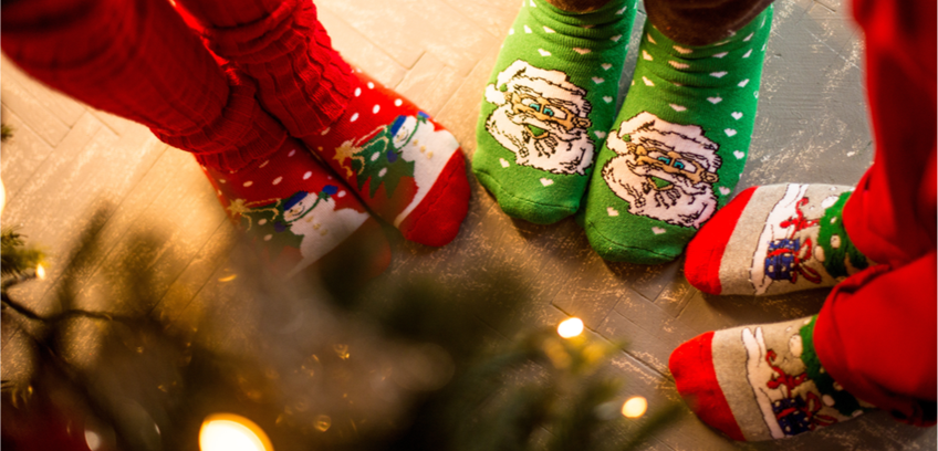Join us on Santa's Sock Day